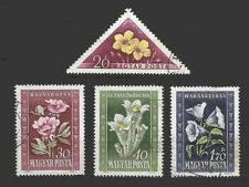 LH15-Hungary 1950  flowers  stamps