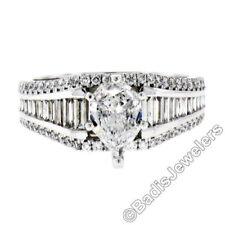 Anillos de joyería con diamantes naturales de compromiso pera