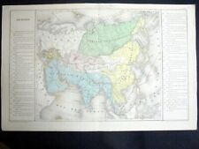 OLD MAP: Th. LEBRUN & A. LE BEALLE~ca 1860~ASIE PHYSIQUE~PHYSICAL ASIA