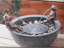 Gartenbrunnen mit 2 FRÖSCHEN + STEINE 5 WATT 35 x 24 cm NEU/OVP