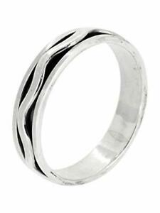 5mm Spinning Ring with Centre Wave Spinner Band, Made from 925 Sterling Silver