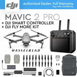 "DJI MAVIC 2 PRO w/ DJI SMART REMOTE CONTROLLER 5.5"" HD DISPLAY + FLY MORE KIT..."