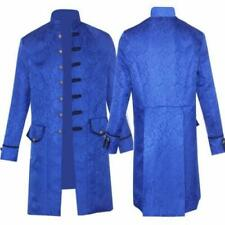 Men's Vintage Style Steampunk Gothic Medieval Costume Stand collar Trench Coat D