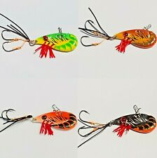 4 x ZX35 Fishing Blade Lure Bream Bass Trout Prawn Vibe Hard Body Metal Lure 👍