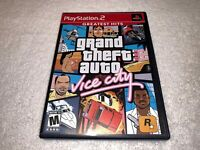 Grand Theft Auto Vice City (Playstation PS2) GH Game Complete w/Poster LN Mint!