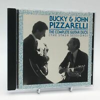 BUCKY & JOHN PIZZARELLI THE COMPLETE GUITAR DUOS STASH SESSIONS Rare CD Album VG