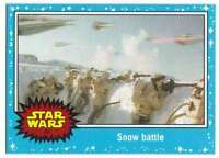 2015 Star Wars Journey To The Force Awakens #47 Snow battle Topps Trading Card