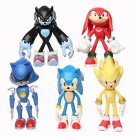 12cm 5pcs/set Sonic Figure Toys Doll Anime Cartoon Sonic Tails   Knuckles Shadow
