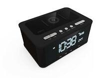 Laser Qi Wireless Charging Alarm Clock Bluetooth Speaker