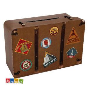 Gift Box tema Viaggio VALIGIA Porta Buste Wedding Card Regali Country Laurea