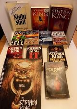 Lot of 11 Stephen King Books and Extras Night Shift Carrie It Skeleton Crew etc