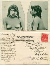 More details for 1907 ship london fs machine ppc maritime ..chile india alacaluf girl magallanes
