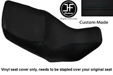 BLACK VINYL CUSTOM FOR HONDA XL 1000 V VARADERO 99-07 DUAL SEAT COVER ONLY