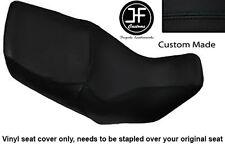 BLACK VINYL CUSTOM FOR HONDA XL 1000 V VARADERO 99-07 DUAL SEAT COVER ONLY