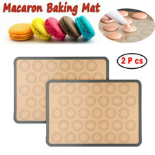 US 2PCS Macaron Baking Mat Non Stick Silicone with 30 Macaroon Mould✔US