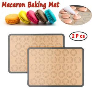 Cupcake Silicone Baking Mat 48 Holes Silicone Baking Oven Tray 2 Pcs Macaron Baking Mats Bakeware Moulds Baking Sheet for Macaron Dessert Cookie
