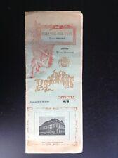 Ancien Programme Theatre Des Arts Rouen 1923 1924 BON ETAT