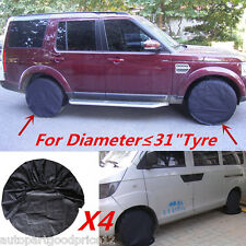 "4pcs Auto Offroad SUV Pickup Trailer Wheel Tire Covers for Diameter ≤31"" Tyres"
