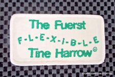 """Fuerst Flexible Tine Harrow Embroidered Sew On Patch Farm Soil 3 7/8"""" x 2"""""""