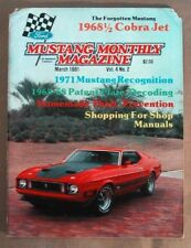MUSTANG MONTHLY 1981 MAR - 428 COBRA JET FOR '68