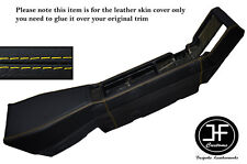 YELLOW STITCHING CENTER CONSOLE LEATHER SKIN COVER FITS RENAULT ALPINE GTA V6