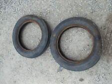 Farmall IH B C SC A BN tractor front tires set of (2) original  4.00x 15