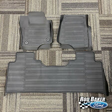 17 thru 20 Super Duty OEM Ford Tray Style Molded Floor Mat Set 3pc EXTENDED/CREW