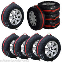 "4Pcs 16""-22"" Car Spare Tyre Tire Protection Cover Carry Tote Handle Storage Bags"