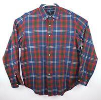 Ralph Lauren Men's Red/Blue Plaid Button Down Long Sleeve Dress Shirt Size XL