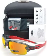 NEW Oakley Flak 2.0 sunglasses Grey Smoke Prizm Ruby 9271-30 AUTHENTIC Jacket AF