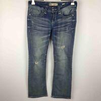 """Buckle BKE Women Culture Boot Cut Jeans Distressed Stretch Denim  30R x 31.5"""""""