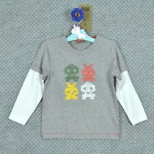 T- shirt garçon gris avec sérigraphie - manches longues ~ 3 ANS ~ NEUF