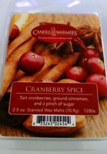 Genuine Candle Warmers Wax Melts - Clamshell 2.5 oz 6 pack- Cranberry Spice