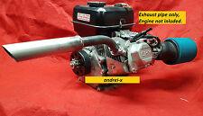 Header Exhaust Pipe for: Mud Motor. Honda GX160, GX200, Predator 212cc, 79cc