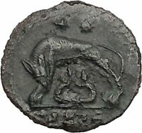 CONSTANTINE I Romulus Remus Twins She-Wolf Rome Commemorative Roman Coin i40950