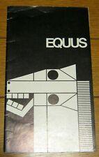 Equus  Broadway Souvenir Program  1974  12 pages   Anthony Perkins