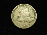 BLOW OUT SALE!! BEAUTIFUL U.S. COLLECTIBLE COIN FINE+ 1858 U.S. FLYING EAGLE #3q