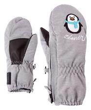 Ziener Kinder Handschuhe Fäustling Le Zoo Mini Pinguin grau