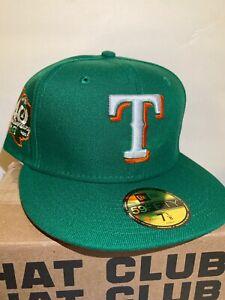 Texas Rangers Exclusive 7 1/4 Non Hat club Orange UV 40th Anniversary Patch