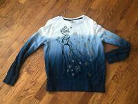 Women's Disney Store Dip Dyed Frozen Elsa Sweatshirt Size L