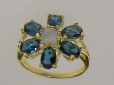 London Blue Topaz Cluster Fine Rings