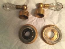 MADE IN FRANCE GOLD BATHROOM SINK FAUCETS CUT BEVEL CRYSTAL HANDLES  EXCEL COND