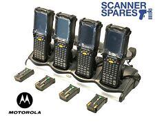 LOT OF 4 Symbol Motorola MC9090-GJ0HBEGA2WR 1D Lorax CE Barcode Scanner & Dock