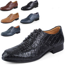 Men's Lace Up Oxfords Business Formal Shoes Low Heel Trendy Casual Plus Size