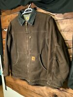 Carhartt Mens Jacket Size  2XL  Heavy Jacket ,Sherpa Lined