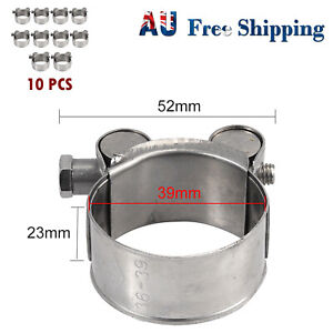 10X 36-39mm Stainless Steel Heavy Duty Hose Clamp Clip Exhaust Turbocharged Car