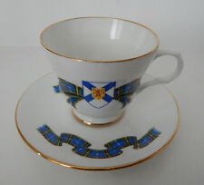 CROWN TRENT NOVA SCOTIA TARTAN CUP & SAUCER SET MADE IN ENGLAND set #75