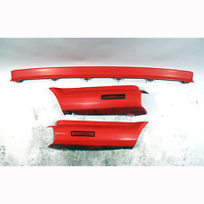 1987-1990 BMW E30 325i Convertible Painted Rear Bumper Trim Set Brilliant Red OE