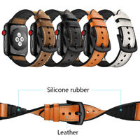 Real Leather Band Strap Bracelet Watchband Fit For Apple Watch iWatch 38mm 42mm