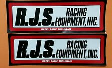 """2 pcs Rjs Safety Equipment Contingency Racing Decals 9"""" X 3"""""""